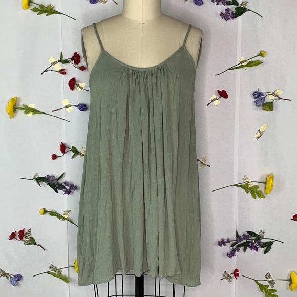 Elan Olive Green Strappy Mini Dress